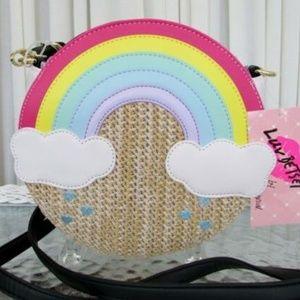 Luv Betsey Johnson Rainbow Canteen Crossbody Straw